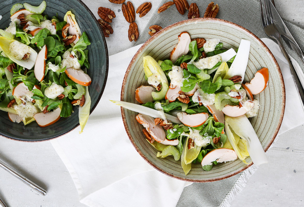 Salade-witlof-kip-bleekselderij