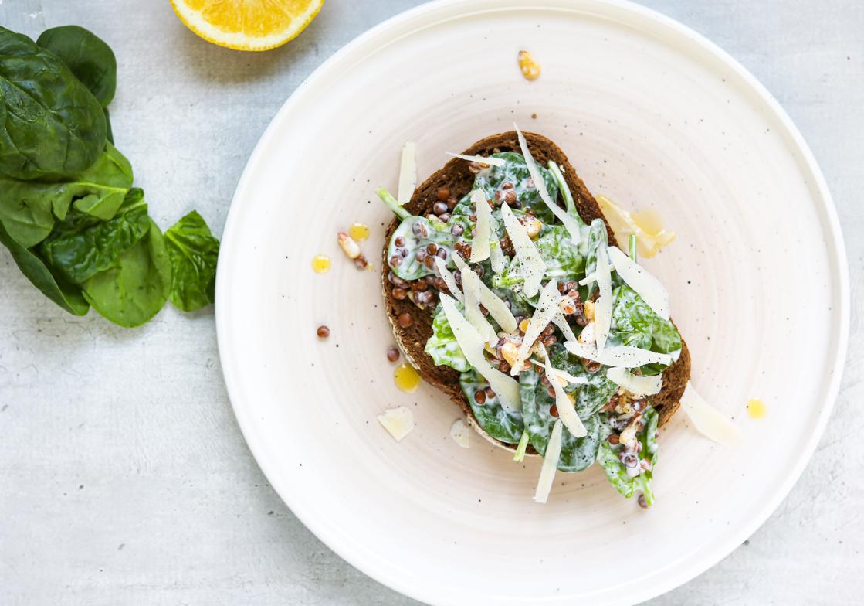 Boterham-spinazie-linzen